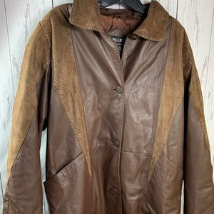 Men's pellet leather jacket size large
